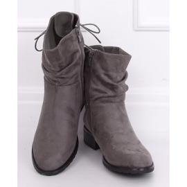 Gray women's flat gray boots B-09 Gray grey 5