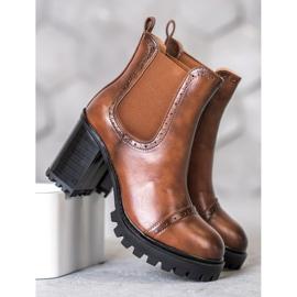 Seastar Slip-on Boots On The Platform brown 1