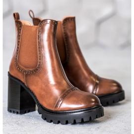 Seastar Slip-on Boots On The Platform brown 3