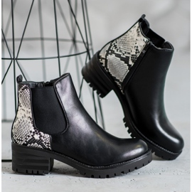 Seastar Chelsea Boots With Pattern black 1