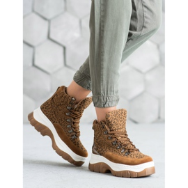 Seastar Fashion lace-up boots brown 5