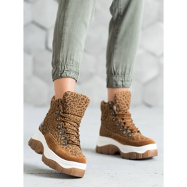 Seastar Fashion lace-up boots brown 1