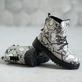 SHELOVET Laced Trappers white multicolored 1
