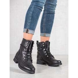 SHELOVET Eco-leather boots black 3