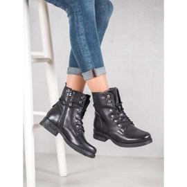 SHELOVET Eco-leather boots black 4