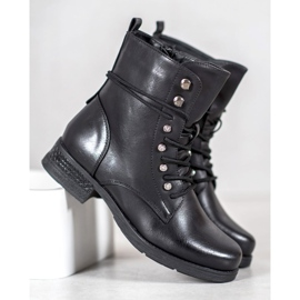 SHELOVET Eco-leather boots black 1