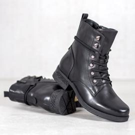 SHELOVET Eco-leather boots black 5
