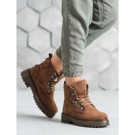 SHELOVET Laced Trappers brown 1