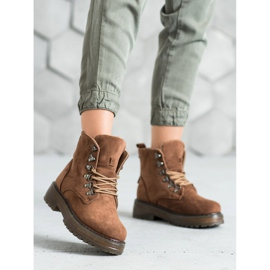 SHELOVET Laced Trappers brown 2