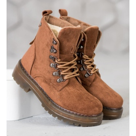 SHELOVET Laced Trappers brown 3
