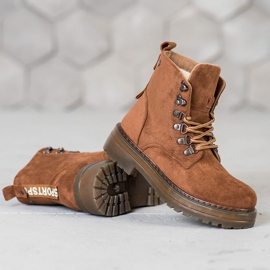 SHELOVET Laced Trappers brown 4