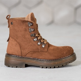 SHELOVET Laced Trappers brown 5