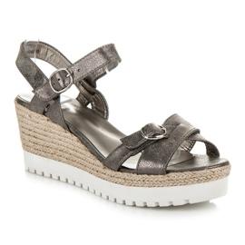 Kylie Espadrilles Silver Sandals grey 3