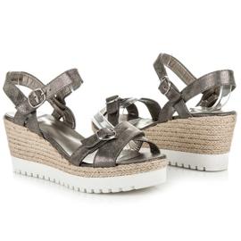 Kylie Espadrilles Silver Sandals grey 1