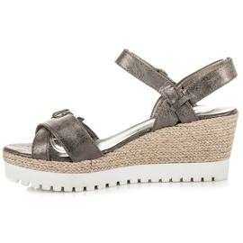 Kylie Espadrilles Silver Sandals grey 4