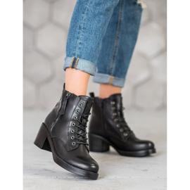 SHELOVET Lace-up Ankle Boots black 1