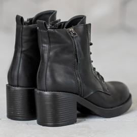 SHELOVET Lace-up Ankle Boots black 4