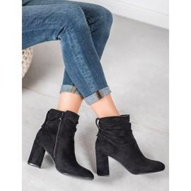 SHELOVET Classic high-heeled boots black 3