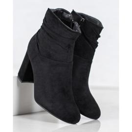 SHELOVET Classic high-heeled boots black 4