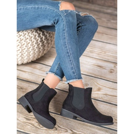 SDS Chelsea boots with crystals black 1
