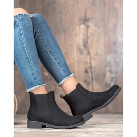 SDS Chelsea boots with crystals black 5
