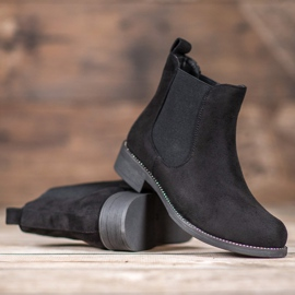 SDS Chelsea boots with crystals black 2