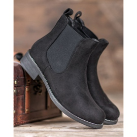 SDS Chelsea boots with crystals black 3