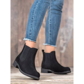 SDS Chelsea boots with crystals black 4