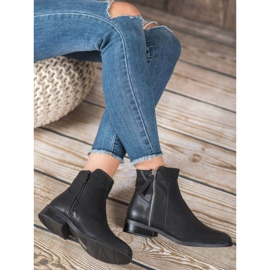 SDS Black Booties With A Zipper 3