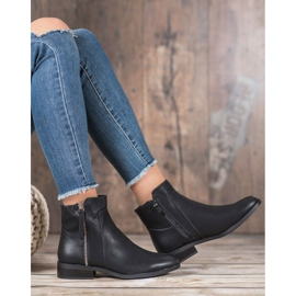 SDS Black Booties With A Zipper 2