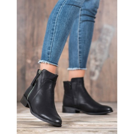 SDS Black Booties With A Zipper 4