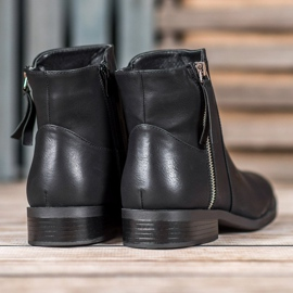 SDS Black Booties With A Zipper 5