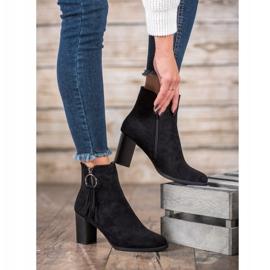 Filippo Stylish suede boots black 1