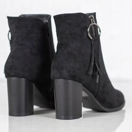 Filippo Stylish suede boots black 4
