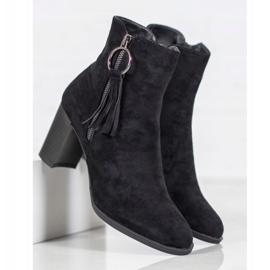 Filippo Stylish suede boots black 5