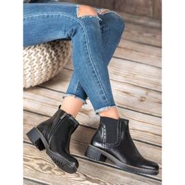 Filippo Black Eco Leather Booties 1