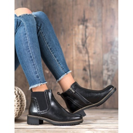 Filippo Black Eco Leather Booties 5