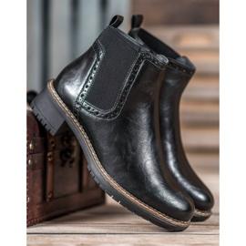 Filippo Black Eco Leather Booties 2