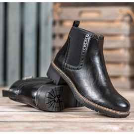 Filippo Black Eco Leather Booties 3