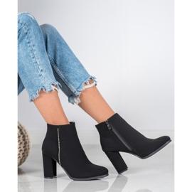 Seastar Matt Boots With Cubic Zirconia black 1