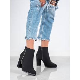Seastar Matt Boots With Cubic Zirconia black 2