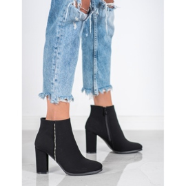 Seastar Matt Boots With Cubic Zirconia black 3