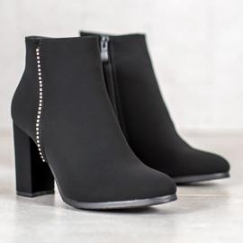 Seastar Matt Boots With Cubic Zirconia black 4