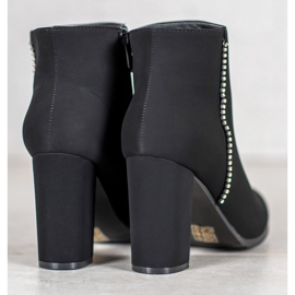 Seastar Matt Boots With Cubic Zirconia black 5
