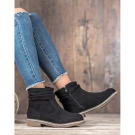 SHELOVET Suede Flat Boots black 2