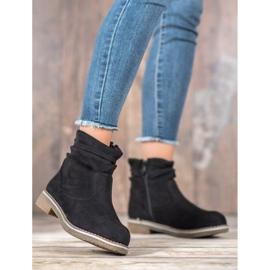 SHELOVET Suede Flat Boots black 1