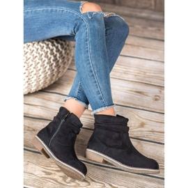 SHELOVET Suede Flat Boots black 3