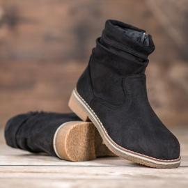 SHELOVET Suede Flat Boots black 4