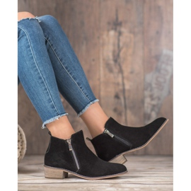 Goodin Leather Booties With A Zipper black 4