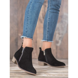 Goodin Leather Booties With A Zipper black 1